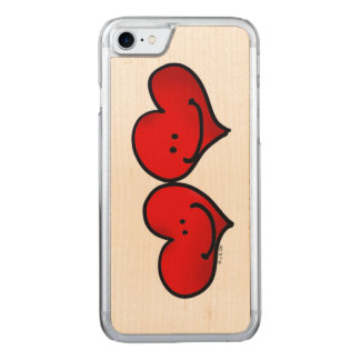 two hearts in love carved iPhone 7 case