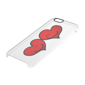 two hearts in love clear iPhone 6/6S case