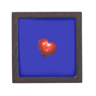 Two hearts in love look like one big heart premium jewelry boxes