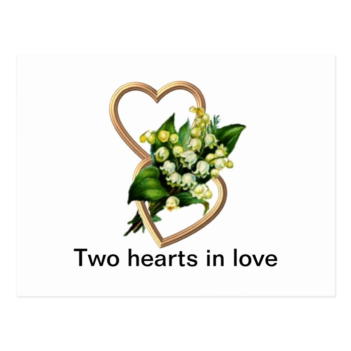 Two Hearts in Love Postcard
