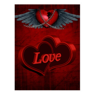 Two Hearts In Love Post Card