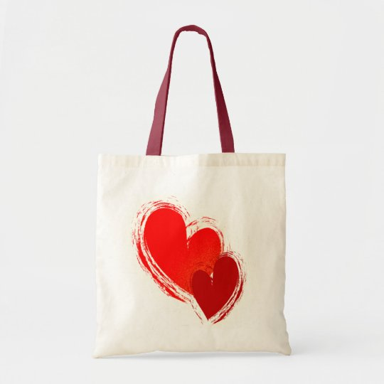 Two hearts in love tote bag