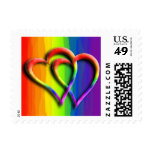 Two Hearts In Love Wedding Postage Stamp