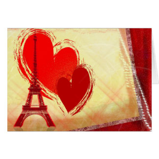 Two hearts in Paris Greeting Card
