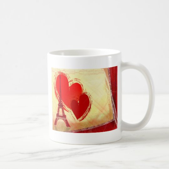 Two hearts in Paris Coffee Mug