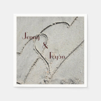 Two Hearts in Sand Napkins