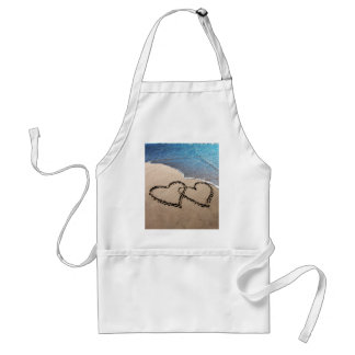 Two Hearts In The Sand Adult Apron