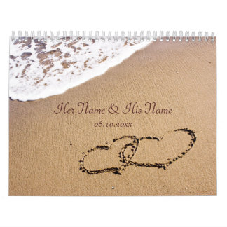 Two Hearts In The Sand Calendar