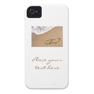 Two Hearts In The Sand iPhone 4 Case-Mate Case