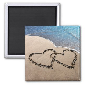 Two Hearts In The Sand Magnet