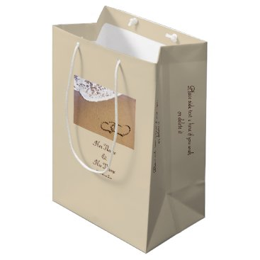 Two Hearts In The Sand Medium Gift Bag