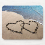 Two Hearts In The Sand Mousepad