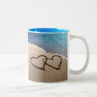 Two Hearts In The Sand Mug