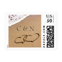 Two Hearts In The Sand Postage
