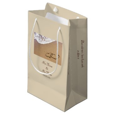 Two Hearts In The Sand Small Gift Bag