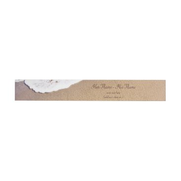 Two Hearts In The Sand Wrap Around Address Label