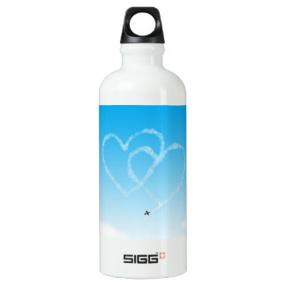 two hearts in the sky water bottle