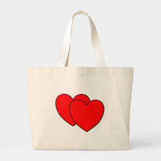 Two Hearts Large Tote Bag