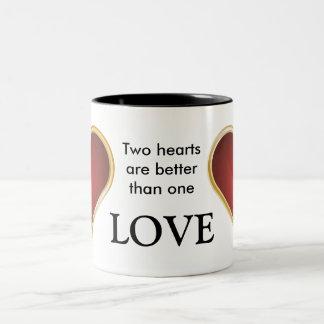 Two Hearts Love Mug