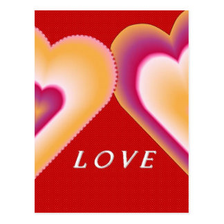 Two Hearts Love Postcard