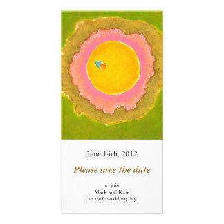 Two Hearts love romantic wedding art painting Custom Photo Card