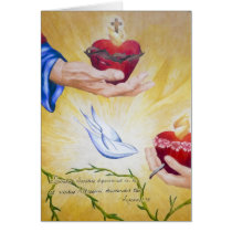 Two Hearts & Luke 1:35 Postage