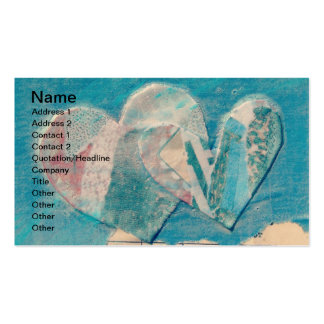 Two Hearts Mixed Media Collage Business Card
