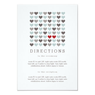 Two Hearts Modern Wedding Directions Insert Card