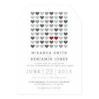 Two Hearts Modern Wedding Invitation