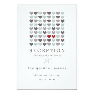 Two Hearts Modern Wedding Reception Insert Card
