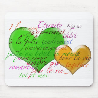 Two hearts mouse pad
