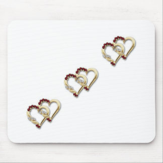 Two-Hearts Mouse Pad