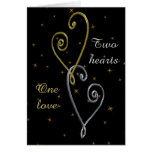 Two Hearts One Love Anniversary Card