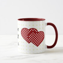two hearts patchwork mug