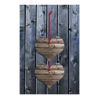 Two hearts photo print