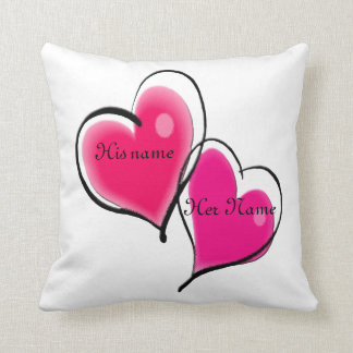 Two Hearts Pillow Template