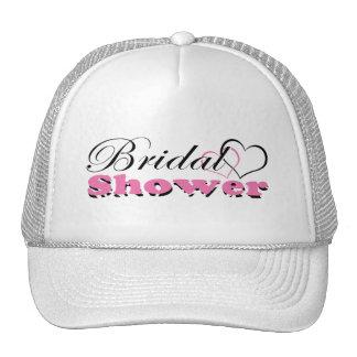 Two Hearts Pink w/ Zebra Bridal Shower Party Trucker Hat
