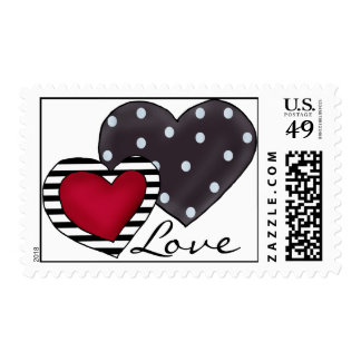 Two Hearts Postage Stamps