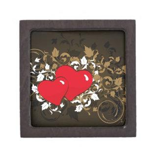 two hearts premium trinket box