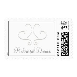 Two Hearts Rehearsal Dinner Postage Stamps