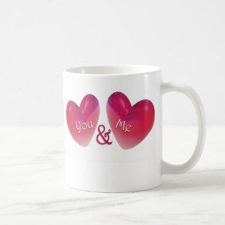 Two Hearts Romantic Coffee Mug