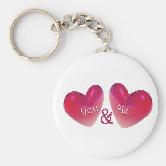Two Hearts Romantic Keychain
