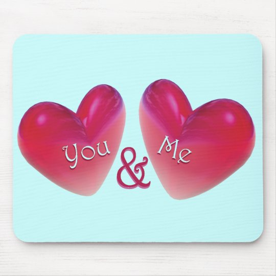 Two Hearts Romantic Mouse Pad
