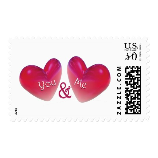 Two Hearts Romantic Postage