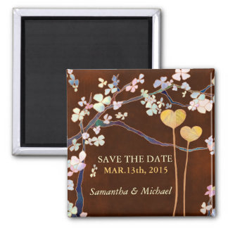 Two Hearts Save the Date Wedding Magnet