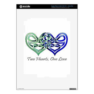 Two Hearts iPad 3 Decal
