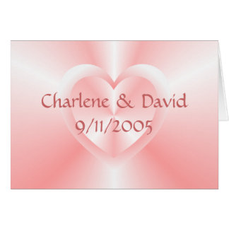 two hearts stationery note card