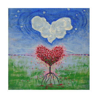 Two Hearts Surrealist Art