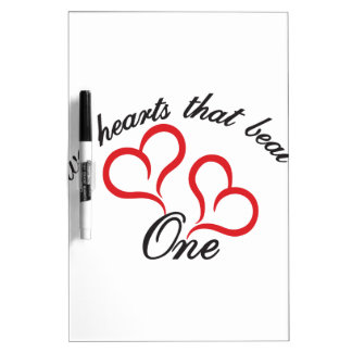 Two Hearts That Beat as One Dry-Erase Board