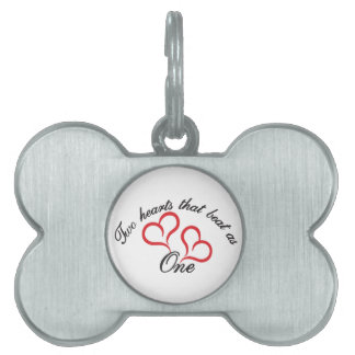 Two Hearts That Beat as One Pet ID Tag